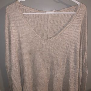 Urban outfitters, cream, V-neck